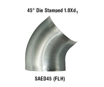 45° Die Stamped 1.0Xd