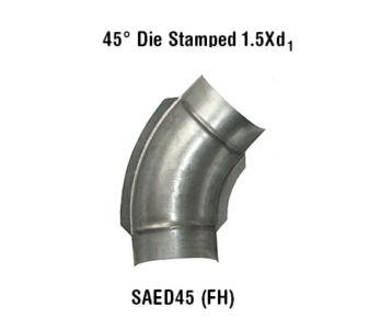 45° Die Stamped 1.5Xd